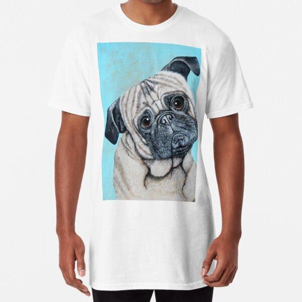 Pensive Pug Long T-Shirt