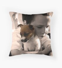 Buddy and Belle Throw Pillow