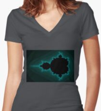 Mandelbrot Beetle 01 Women's Fitted V-Neck T-Shirt