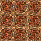 Mariposa Medallions A Tiled in Tan by formfuncstylela