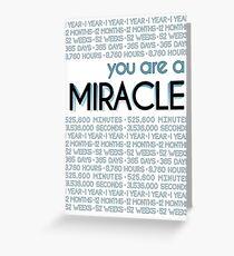 Du bist ein Wunder - 1 Jahr Grußkarte