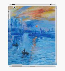 Impression, Sonnenaufgang Monet Malerei Soleil Levan iPad-Hülle & Skin
