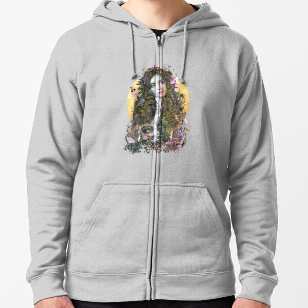 Mother Earth surreal original art Zipped Hoodie