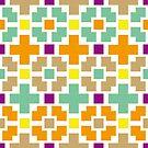 Quadrat - Kreuz - Muster - Bunt von bunbun369