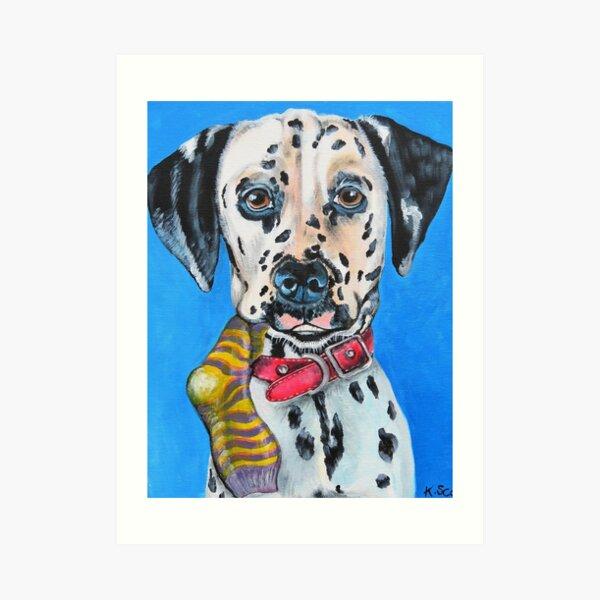 Naughty Puppy! Art Print