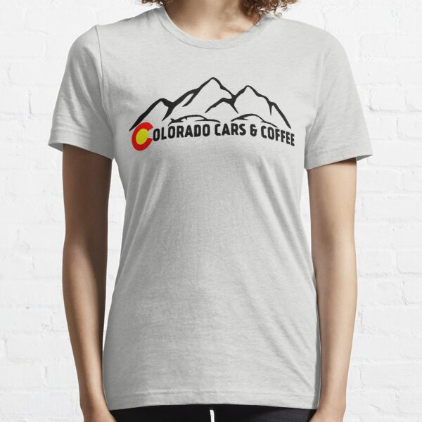 Colorado Cars & Coffee Mountain Logo - Black Lettering Essential T-Shirt