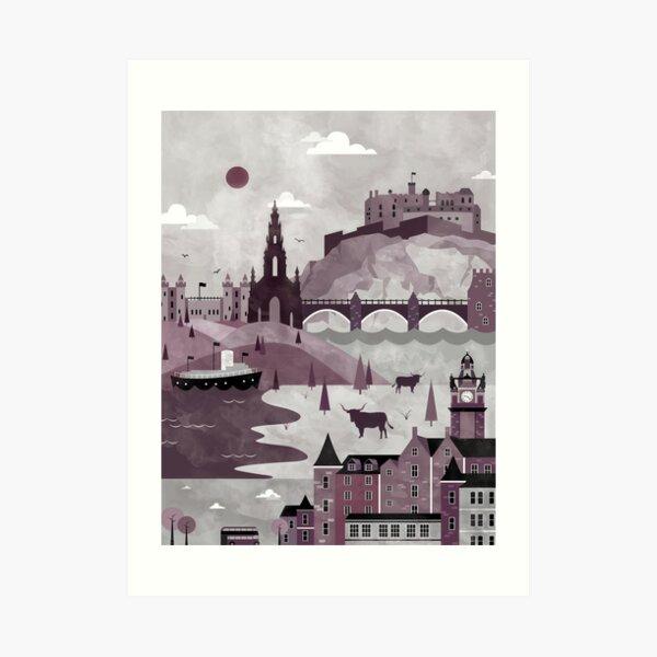 Edinburgh Illustration Art Print