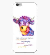 More than a pretty face...Lizzy cow iPhone Case