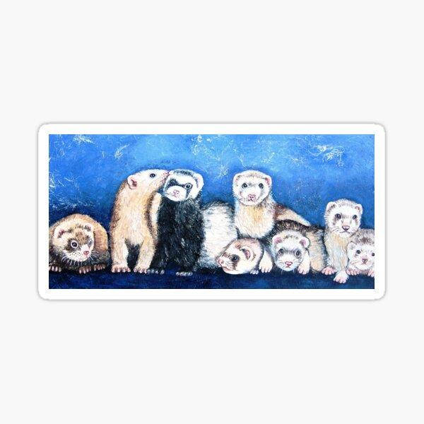 Furry Ferret Friends Sticker