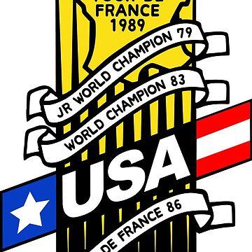 Greg LeMond Tour de France Decal DISTRESSED by JackCinq