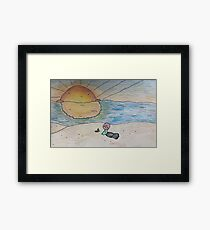 sunsets on me  Framed Print