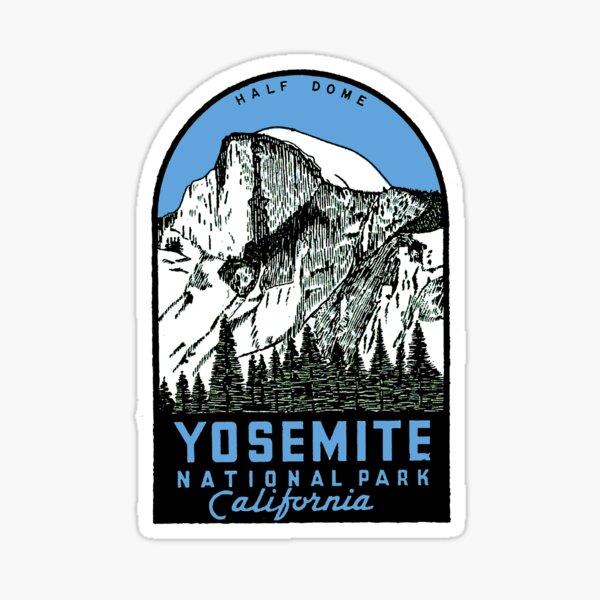 Yosemite Half dome - Yosemite National Park vintage car decal USA Sticker