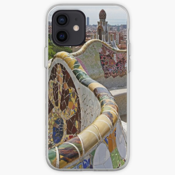 Reaching out to Barcelona in Park Guell  iPhone Soft Case