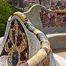 Reaching out to Barcelona in Park Guell  by TerrillWelch
