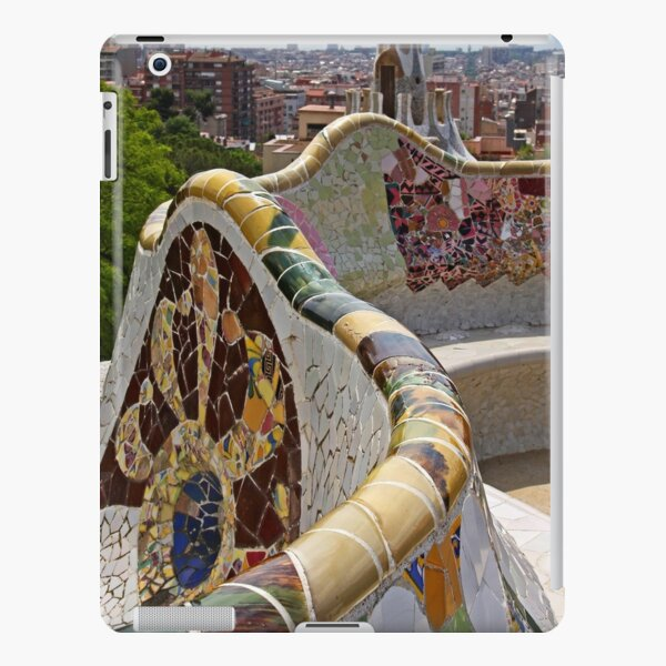 Reaching out to Barcelona in Park Guell  iPad Snap Case