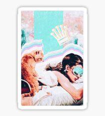 AUDREY HEPBURN BREAKFAST AT TIFFANYS x queen collage Sticker