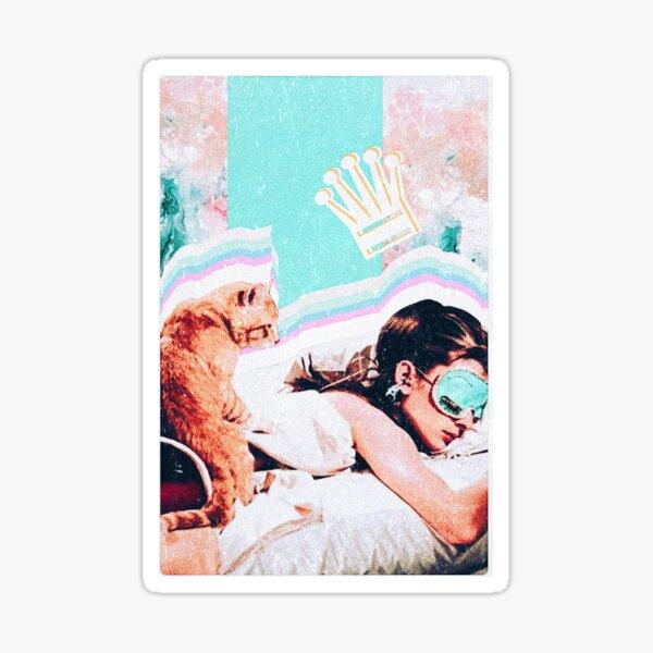DESAYUNO AUDREY HEPBURN EN TIFFANYS x queen collage Pegatina