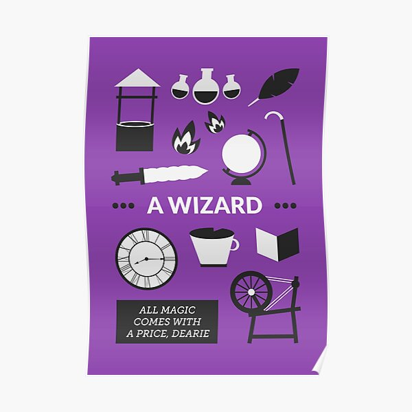 Once Upon A Time - A Wizard Poster