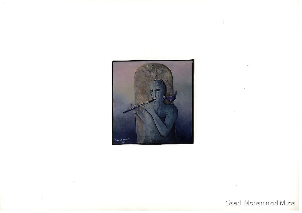 Lover with a Flute by Saad  Mohammed Musa