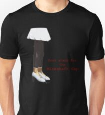 dont stand for the mineshaft gap - black and white T-Shirt