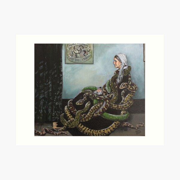 Whistler's Mum loves her Snakes  Art Print