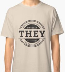 Pronoun Badge - They Classic T-Shirt