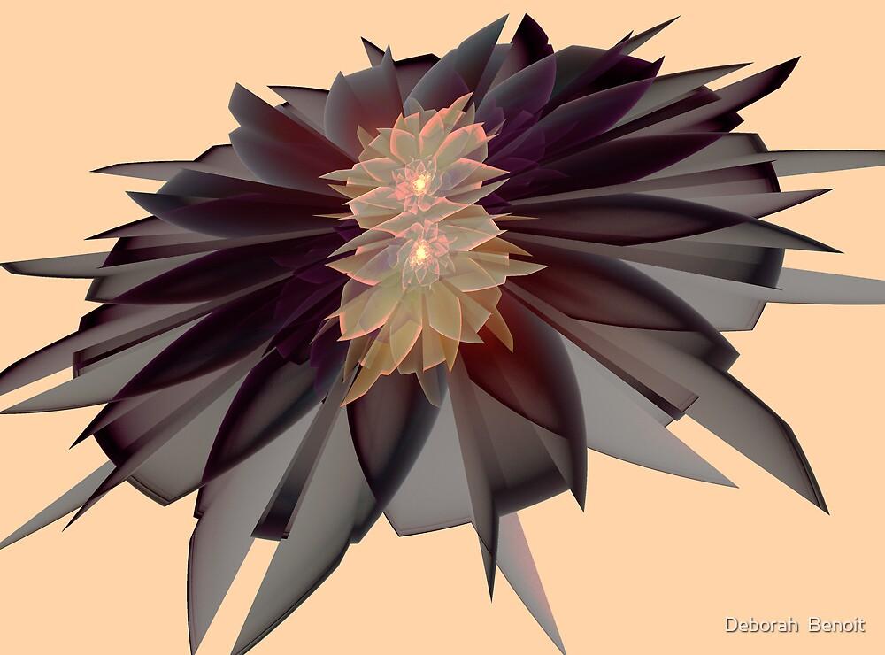 Black Flower by Deborah  Benoit