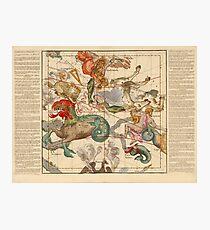 Star Atlas Vintage Constellation Map Ignace Gaston Pardies Photographic Print