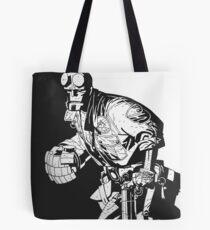 Hellboy in Action Tote Bag