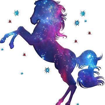Caballo Espacial, Universo, Kosmos, Galaxia, Estrella de boom-art
