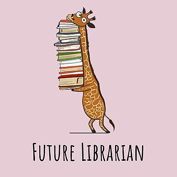 Funny Giraffe Holding a Stack of Books - Future Librarian - Book Lover Gift, Phones Cases And Other Gift by MemWear