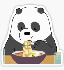 Panda eating ramen Sticker