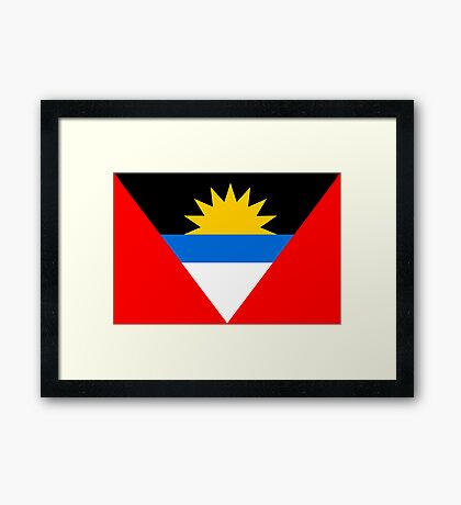 Antigua & Barbuda, national id Framed Print