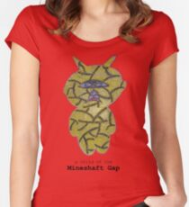 a child of the mineshaft gap - red and yellow Women's Fitted Scoop T-Shirt