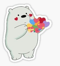 ice bear hearts Sticker