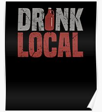 Drink Local Craft Beer Apparel Poster