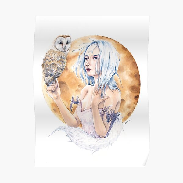 A girl and her owl Poster
