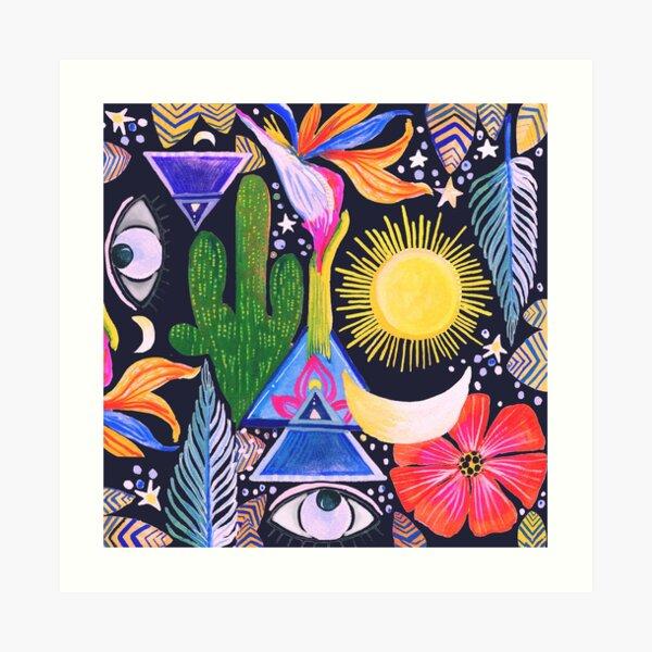 Cactus Sunrise Looking at You Art Print