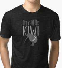 I'm a little kiwi in grey with New Zealand bird Tri-blend T-Shirt