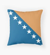 Bosnia & Herzegovina, national id Throw Pillow