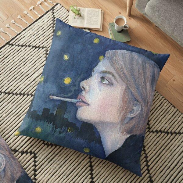 City Girl Floor Pillow