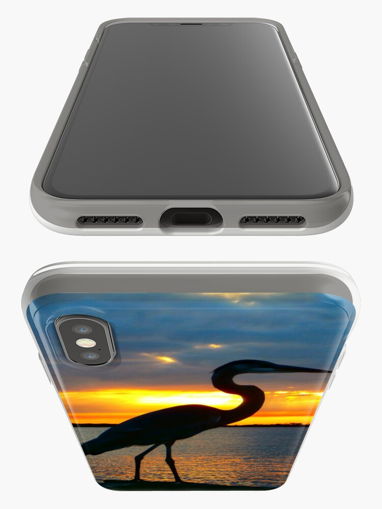 Alternate view of Dusky Heron iPhone Case & Cover