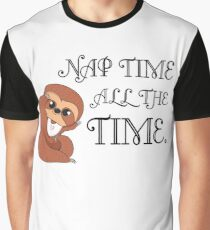 Baby Sloth - Nap Time is All the Time Graphic T-Shirt
