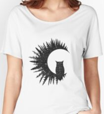 Owl and Forest Women's Relaxed Fit T-Shirt