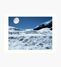 Moonshine on the Columbia Icefields, Alberta. Canada. Art Print