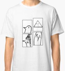PUNPUN STAGES (black and white) - Sad Japanese Aesthetic Classic T-Shirt