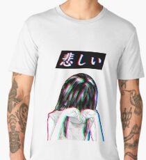 SAD JAPANESE MANGA AESTHETIC  Men's Premium T-Shirt