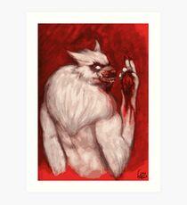 Werwolf Havara / Tasting Prey Art Print