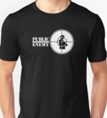 Logo des öffentlichen Feindes Slim Fit T-Shirt