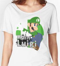 Camiseta ancha para mujer I Main Luigi - Super Smash Bros. Ultimate